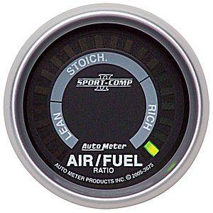 "2-1/16"" Gauges - Auto Meter Sport-Comp II Series - Autometer - Auto Meter Sport-Comp II Series, Air/Fuel Ratio Lean-Rich (Full Sweep Electric)"