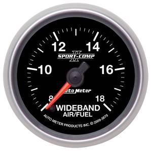 "2-1/16"" Gauges - Auto Meter Sport-Comp II Series - Autometer - Auto Meter Sport-Comp II Series, Air Fuel Ratio-Wideband Analog (Full Sweep Electric)"