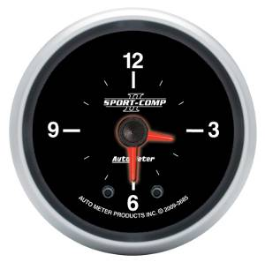 "2-1/16"" Gauges - Auto Meter Sport-Comp II Series - Autometer - Auto Meter Sport-Comp II Series, Clock (Full Sweep Electric)"