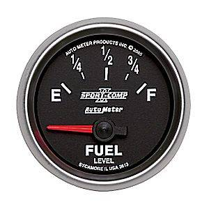 "2-1/16"" Gauges - Auto Meter Sport-Comp II Series - Autometer - Auto Meter Sport-Comp II Series, Fuel Level (Short Sweep Electric) GM"