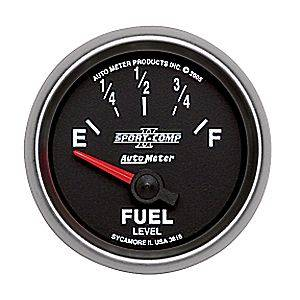"2-1/16"" Gauges - Auto Meter Sport-Comp II Series - Autometer - Auto Meter Sport-Comp II Series, Fuel Level 240-33 ohms (Short Sweep Electric)"