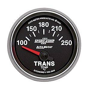 "2-1/16"" Gauges - Auto Meter Sport-Comp II Series - Autometer - Auto Meter Sport-Comp II Series, Transmission Temperature 100*-250*F (Short Sweep Electric)"