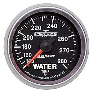 "2-1/16"" Gauges - Auto Meter Sport-Comp II Series - Autometer - Auto Meter Sport-Comp II Series, Water Temperature 140*-280*F (Mechanical)"