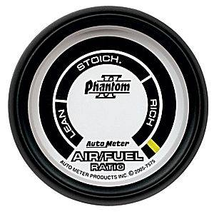 "2-1/16"" Gauges - Auto Meter Phantom II Series - Autometer - Auto Meter Phantom II Series, Air/Fuel Ratio Lean-Rich (Full Sweep Electric)"