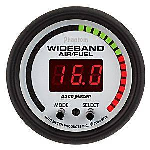 "2-1/16"" Gauges - Auto Meter Phantom II Series - Autometer - Auto Meter Phantom II Series, Air/Fuel Ratio-Wideband Pro (Full Sweep Electric)"