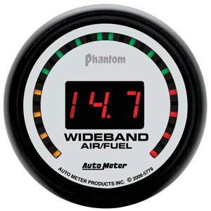 "2-1/16"" Gauges - Auto Meter Phantom II Series - Autometer - Auto Meter Phantom II Series, Air/Fuel Ratio-Wideband Street (Full Sweep Electric)"