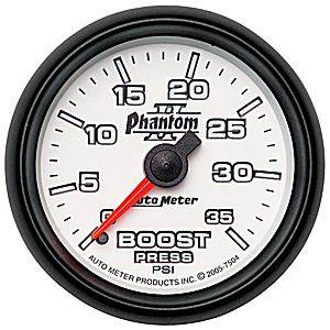 "2-1/16"" Gauges - Auto Meter Phantom II Series - Autometer - Auto Meter Phantom II Series, Boost Pressure 0-35psi (Mechanical)"