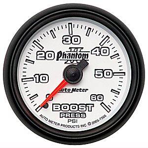 "2-1/16"" Gauges - Auto Meter Phantom II Series - Autometer - Auto Meter Phantom II Series, Boost Pressure 0-60psi (Mechanical)"