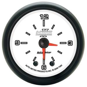 "2-1/16"" Gauges - Auto Meter Phantom II Series - Autometer - Auto Meter Phantom II Series, Clock (Full Sweep Electric)"