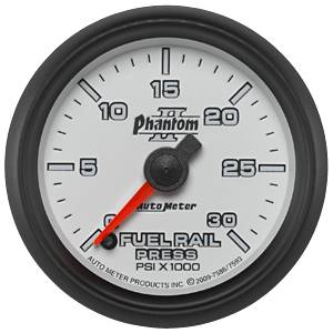 "2-1/16"" Gauges - Auto Meter Phantom II Series - Autometer - Auto Meter Phantom II Series, Diesel Fuel Rail Pressure 0-30,000psi (Full Sweep Electric) 5.9L Cummins"