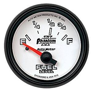 "2-1/16"" Gauges - Auto Meter Phantom II Series - Autometer - Auto Meter Phantom II Series, Fuel Level (Short Sweep Electric) Ford"
