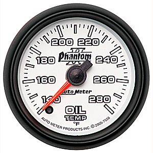 "2-1/16"" Gauges - Auto Meter Phantom II Series - Autometer - Auto Meter Phantom II Series, Oil Temperature 140*-280*F (Full Sweep Electric)"