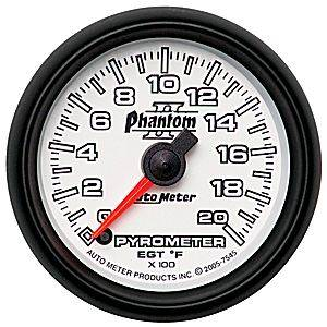 "2-1/16"" Gauges - Auto Meter Phantom II Series - Autometer - Auto Meter Phantom II Series, Pyrometer Kit 0*-2000*F (Full Sweep Electric)"