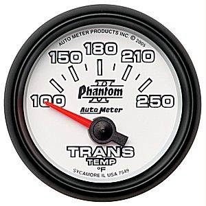 "2-1/16"" Gauges - Auto Meter Phantom II Series - Autometer - Auto Meter Phantom II Series, Transmission Temperature 100*-250*F (Short Sweep Electric)"
