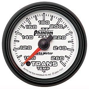 "2-1/16"" Gauges - Auto Meter Phantom II Series - Autometer - Auto Meter Phantom II Series, Transmission Temperature 100*-260*F (Full Sweep Electric)"