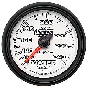 "2-1/16"" Gauges - Auto Meter Phantom II Series - Autometer - Auto Meter Phantom II Series, Water Temperature 120*-240*F (Mechanical)"