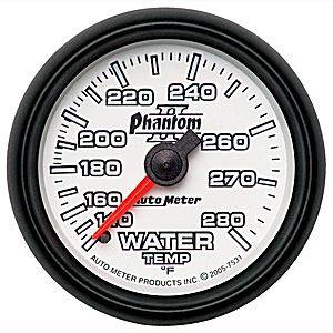 "2-1/16"" Gauges - Auto Meter Phantom II Series - Autometer - Auto Meter Phantom II Series, Water Temperature 140*-280*F (Mechanical)"