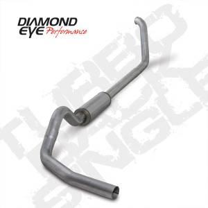"Diamond Eye Performance - Diamond Eye 4"" Turbo Back Exhaust, Ford (1999-03) F250 & F350, 7.3L Power Stroke, Single, Aluminized - Image 2"