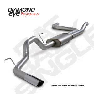 "Diamond Eye Performance - Diamond Eye 3.5"" Cat Back Exhaust, Nissan (2004-14) Titan, 5.6L Gas, Single, Aluminized - Image 2"