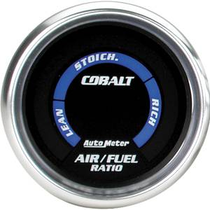 "2-1/16"" Gauges - Auto Meter Cobalt Series - Autometer - Auto Meter Cobalt Series, Air/Fuel Ratio Lean-Rich (Full Sweep Electric)"