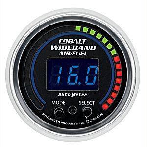 "2-1/16"" Gauges - Auto Meter Cobalt Series - Autometer - Auto Meter Cobalt Series, Air/Fuel Ratio-Wideband Pro (Full Sweep Electric)"