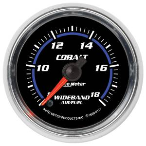 "2-1/16"" Gauges - Auto Meter Cobalt Series - Autometer - Auto Meter Cobalt Series, Air/Fuel Ratio-Wideband Analog (Full Sweep Electric)"