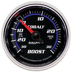 "2-1/16"" Gauges - Auto Meter Cobalt Series - Autometer - Auto Meter Cobalt Series, Boost/Vacuum Pressure 30""HG/30psi (Mechanical)"