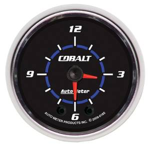 "2-1/16"" Gauges - Auto Meter Cobalt Series - Autometer - Auto Meter Cobalt Series, Clock (Full Sweep Electric)"