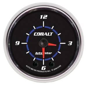 "2-1/16"" Gauges - Auto Meter Cobalt Series - Autometer - Auto Meter Cobalt Series, Clock (Full Sweep Electric)"