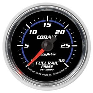 "2-1/16"" Gauges - Auto Meter Cobalt Series - Autometer - Auto Meter Cobalt Series, Diesel Fuel Rail Pressure (Full Sweep Electric) 6.7L Cummins"
