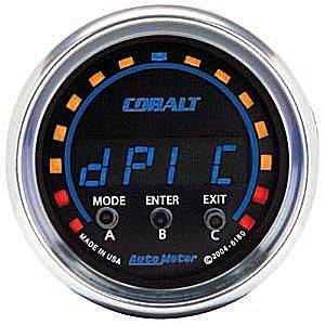 "2-1/16"" Gauges - Auto Meter Cobalt Series - Autometer - Auto Meter Cobalt Series, D-PIC  (Full Sweep Electric)"