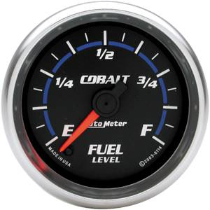 "2-1/16"" Gauges - Auto Meter Cobalt Series - Autometer - Auto Meter Cobalt Series, Fuel Level Programmable (Full Sweep Electric)"