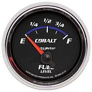 "2-1/16"" Gauges - Auto Meter Cobalt Series - Autometer - Auto Meter Cobalt Series, Fuel Level (Short Sweep Electric)GM"