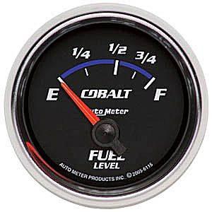 "2-1/16"" Gauges - Auto Meter Cobalt Series - Autometer - Auto Meter Cobalt Series, Fuel Level (Short Sweep Electric)Ford"