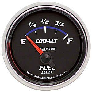 "2-1/16"" Gauges - Auto Meter Cobalt Series - Autometer - Auto Meter Cobalt Series, Fuel Level 240-33 ohms (Short Sweep Electric)"