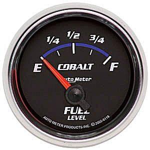 "2-1/16"" Gauges - Auto Meter Cobalt Series - Autometer - Auto Meter Cobalt Series, Fuel Level 240-33 ohms (Short Sweep Electric)"