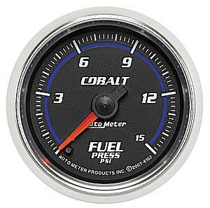 "2-1/16"" Gauges - Auto Meter Cobalt Series - Autometer - Auto Meter Cobalt Series, Fuel Pressure 0-15psi (Full Sweep Electric)"