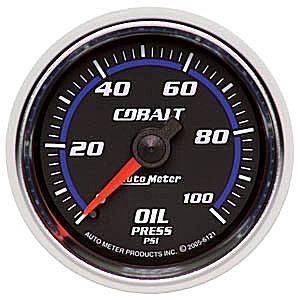 "2-1/16"" Gauges - Auto Meter Cobalt Series - Autometer - Auto Meter Cobalt Series, Oil Pressure 0-100psi (Mechanical)"