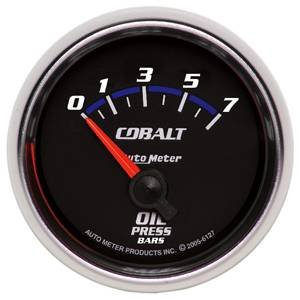 "2-1/16"" Gauges - Auto Meter Cobalt Series - Autometer - Auto Meter Cobalt Series, Oil Pressure 0-7 Bar (Short Sweep Electric)"