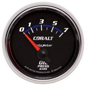 "2-1/16"" Gauges - Auto Meter Cobalt Series - Autometer - Auto Meter Cobalt Series, Oil Pressure 0-7 Bar (Short Sweep Electric)"