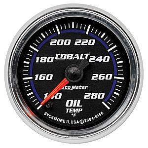 "2-1/16"" Gauges - Auto Meter Cobalt Series - Autometer - Auto Meter Cobalt Series, Oil Temperature 140*-280*F (Full Sweep Electric)"