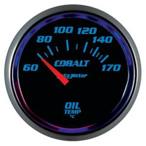 "2-1/16"" Gauges - Auto Meter Cobalt Series - Autometer - Auto Meter Cobalt Series, Oil Temperature 60*-150*C (Short Sweep Electric)"