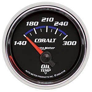 "2-1/16"" Gauges - Auto Meter Cobalt Series - Autometer - Auto Meter Cobalt Series, Oil Temperature 140*-300*F (Short Sweep Electric)"