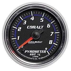 "2-1/16"" Gauges - Auto Meter Cobalt Series - Autometer - Auto Meter Cobalt Series, Pyrometer 0*-900*C (Full Sweep Electric)"