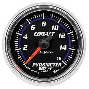 "2-1/16"" Gauges - Auto Meter Cobalt Series - Autometer - Auto Meter Cobalt Series, Pyrometer Kit 0*-1600*F (Full Sweep Electric)"