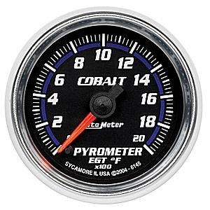 "2-1/16"" Gauges - Auto Meter Cobalt Series - Autometer - Auto Meter Cobalt Series, Pyrometer Kit 0*-2000*F (Full Sweep Electric)"