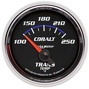 "2-1/16"" Gauges - Auto Meter Cobalt Series - Autometer - Auto Meter Cobalt Series, Transmission Temperature 100*-250*F (Short Sweep Electric)"
