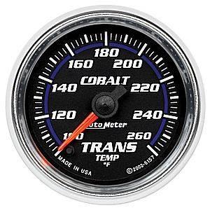 "2-1/16"" Gauges - Auto Meter Cobalt Series - Autometer - Auto Meter Cobalt Series, Transmission Temperature 100*-260*F (Full Sweep Electric)"