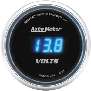 "2-1/16"" Gauges - Auto Meter Cobalt Series - Autometer - Auto Meter Cobalt Series, Voltmeter 8-19volts (Full Sweep Electric)"