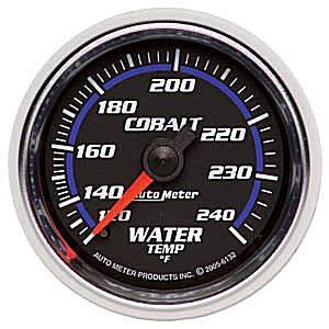 "2-1/16"" Gauges - Auto Meter Cobalt Series - Autometer - Auto Meter Cobalt Series, Water Temperature 120*-240*F (Mechanical)"